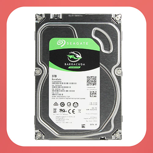 Seagate BarraCuda Internal Hard Drive 3TB SATA 6Gb/s 64MB Cache 3.5-Inch (ST3000DM008)