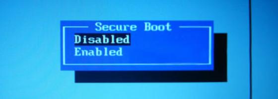 «Secure Boot» в положение «Disabled»