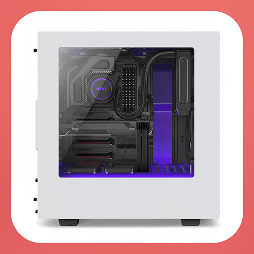 NZXT S340 - Корпус для игрового компьютера на Ryzen 7 1700 nzxt-s340-white-purple-gaming-case